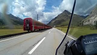 Bernina Train - Bernina Pass - HONDA NC750X DCT - August 17, 2017