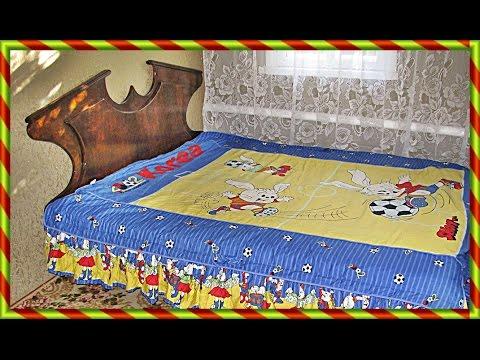 Cмотреть онлайн  Двуспальная кровать своими руками. Часть1 Из ФАНЕРЫ. Как сделать ? Double bed