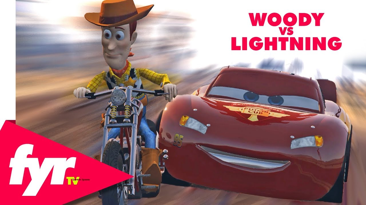 Woody Vs Lightning Mcqueen Epic Race Youtube