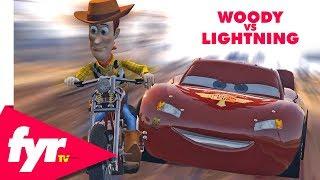 Woody vs Lightning McQueen EPIC Race!