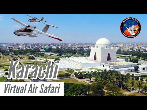 Virtual Air Safari: Karachi | Radio Recording | Microsoft Flight Simulator 2020 | ICON A5 | Urdu