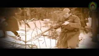 Kaujas rekonstrukcija pirms 62 gadiem notikušajam uzbrukumam Īles nacionālo partizānu bunkuram