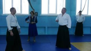 Сенсей по айкидо провел урок для школьников Бердска