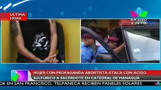 Mujer con propaganda abortista ataca con acido sulfúrico a sacerdote