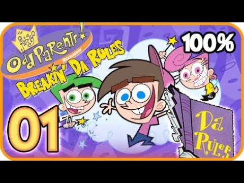 Fairly OddParents! Breakin' Da Rules Walkthrough Part 1 (PS2, Gamecube, XBOX) 100% Tutorial