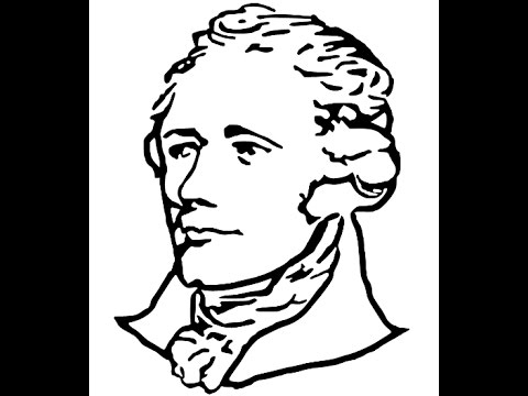 Line Drawing Step By Step : How to draw alexander hamilton face drawing step by youtube