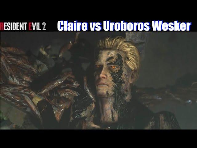 RE2 Babe Claire vs Uroboros Wesker - Resident Evil 2 Remake 2019 Mod Showcase