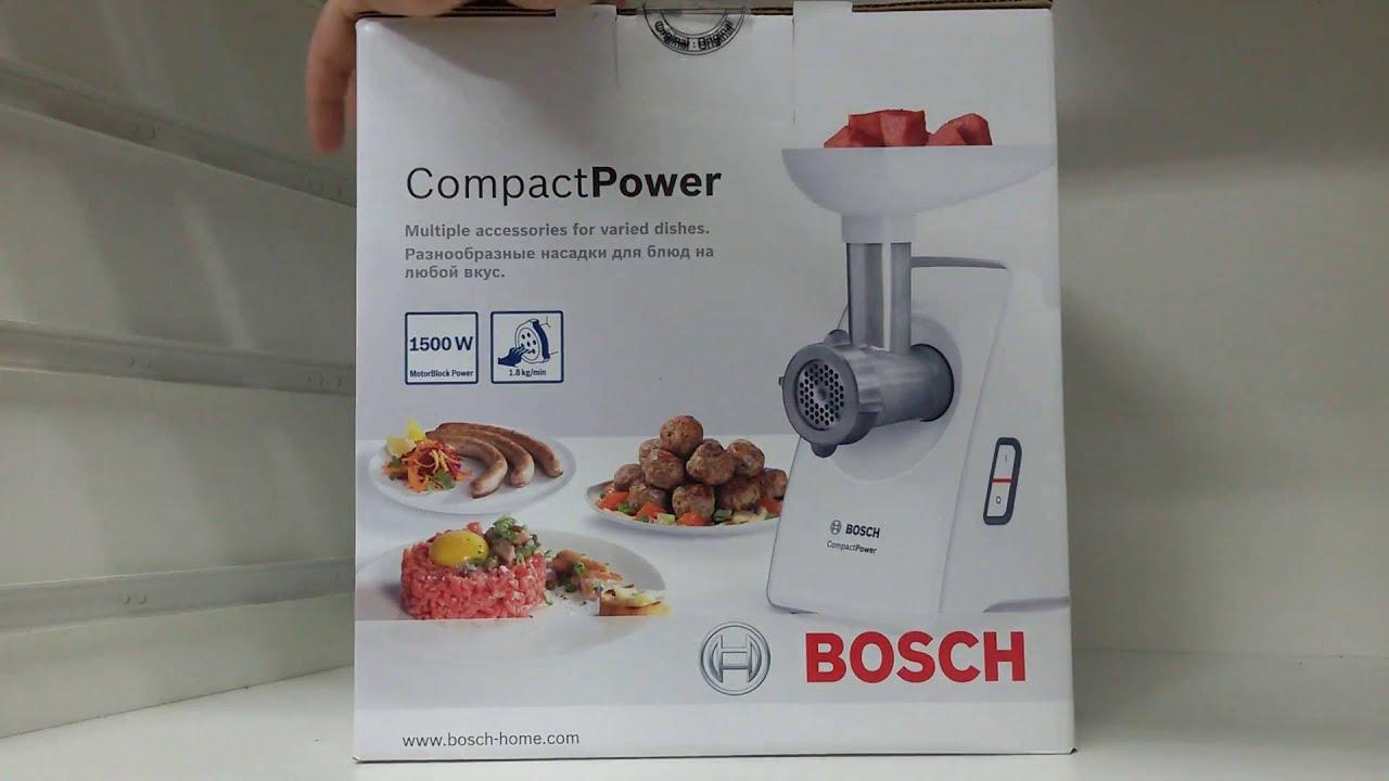 Распаковка Мясорубки Bosch MFW 66020, 1800 Вт Краткий обзор - YouTube