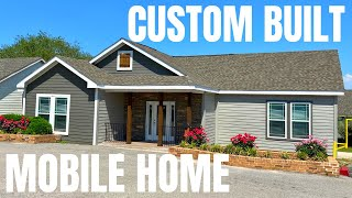 Like nothing I have ever toured! LOADED custom built mobile home! This modular is on another level!
