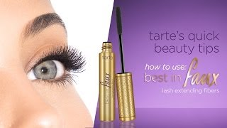 tarte's quick beauty tips: best in faux Thumbnail