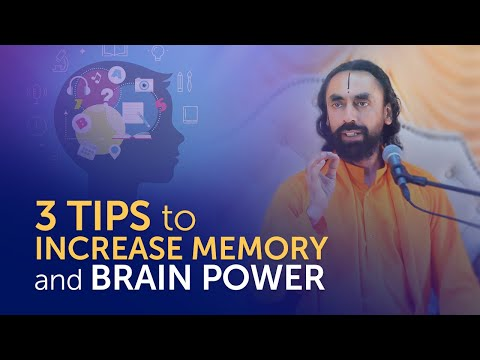 3 TIPS to Increase Memory and Brain Power - MUST Watch for Students and Youth | Swami Mukundananda