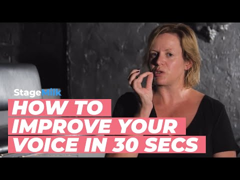 How to Improve Your Voice in 30 Seconds