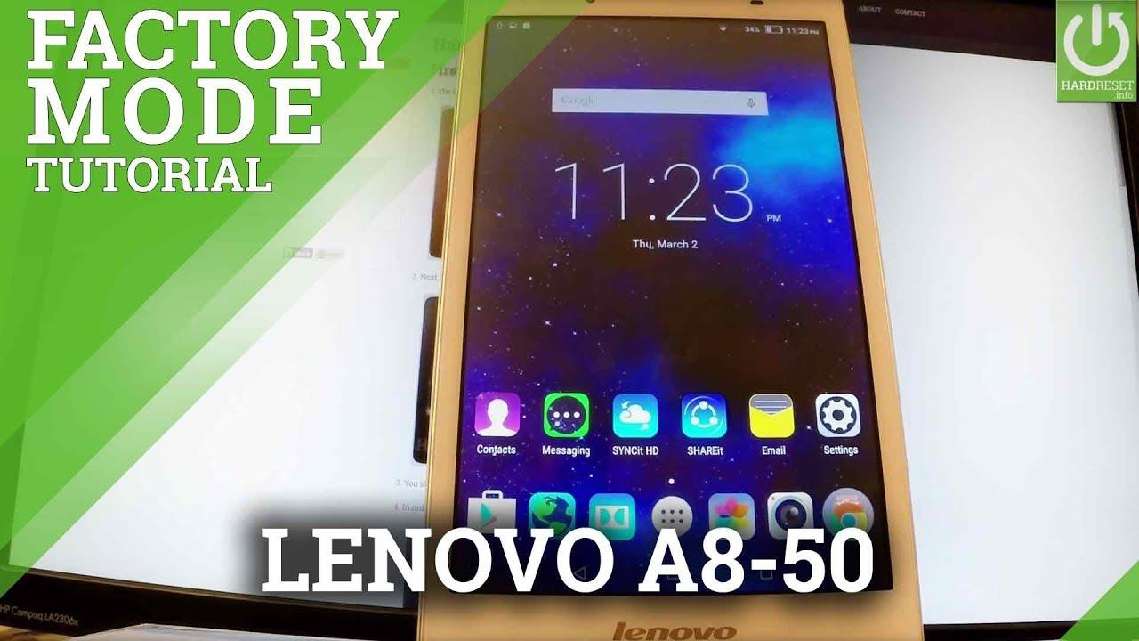 Factory Mode LENOVO A8-50 - Enter / Exit Test Mode