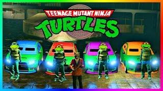 GTA ONLINE NINJA TURTLES FREEMODE SPECIAL - TEENAGE MUTANT NINJA TURTLE VEHICLES, CHALLENGES & MORE!