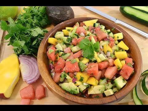Watermelon Salsa Mango, Watermelon, Avocado Salsa | RadaCutlery.com