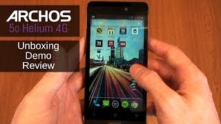 archos 50 helium 4g unboxing review and demo