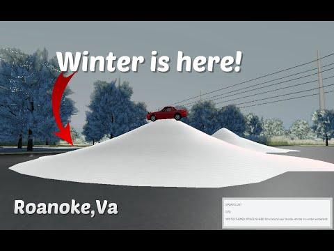 WINTER IS HERE! | Roblox Roanoke, Va