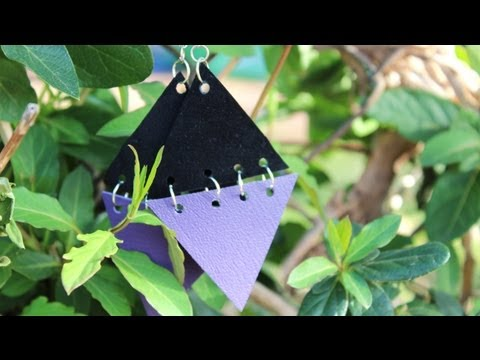 Geometric Earrings DIY (Easy)- Whitney Sews