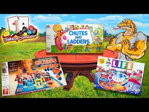 TABLETOP SIMULATOR GAME NIGHT!! Chutes & Ladders, The Game of Life, Guess Who? DUAL LIVE STREAM