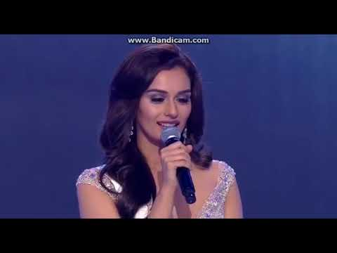 Manushi Chillar Questioning Round Miss World TOP 5 question