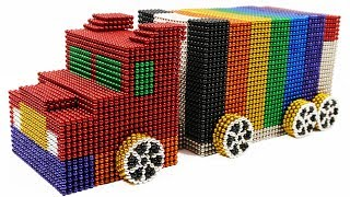 ASMR and How To Make Truck Container with 35000 Mini Magnetic Balls | Magnetic Man 4K