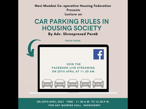 Car Parking Rules in Housing Society : Adv. Shreeprasad Para