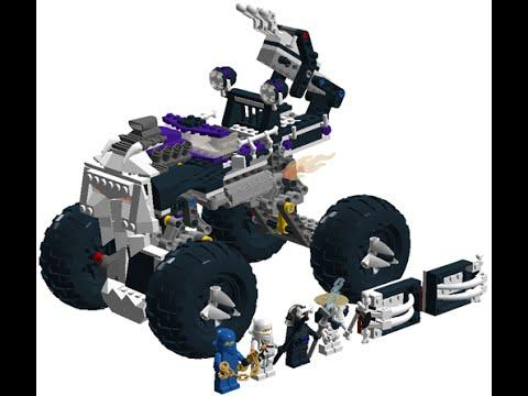 lego ninjago le 4x4 squelette camion jouet pour les enfants youtube