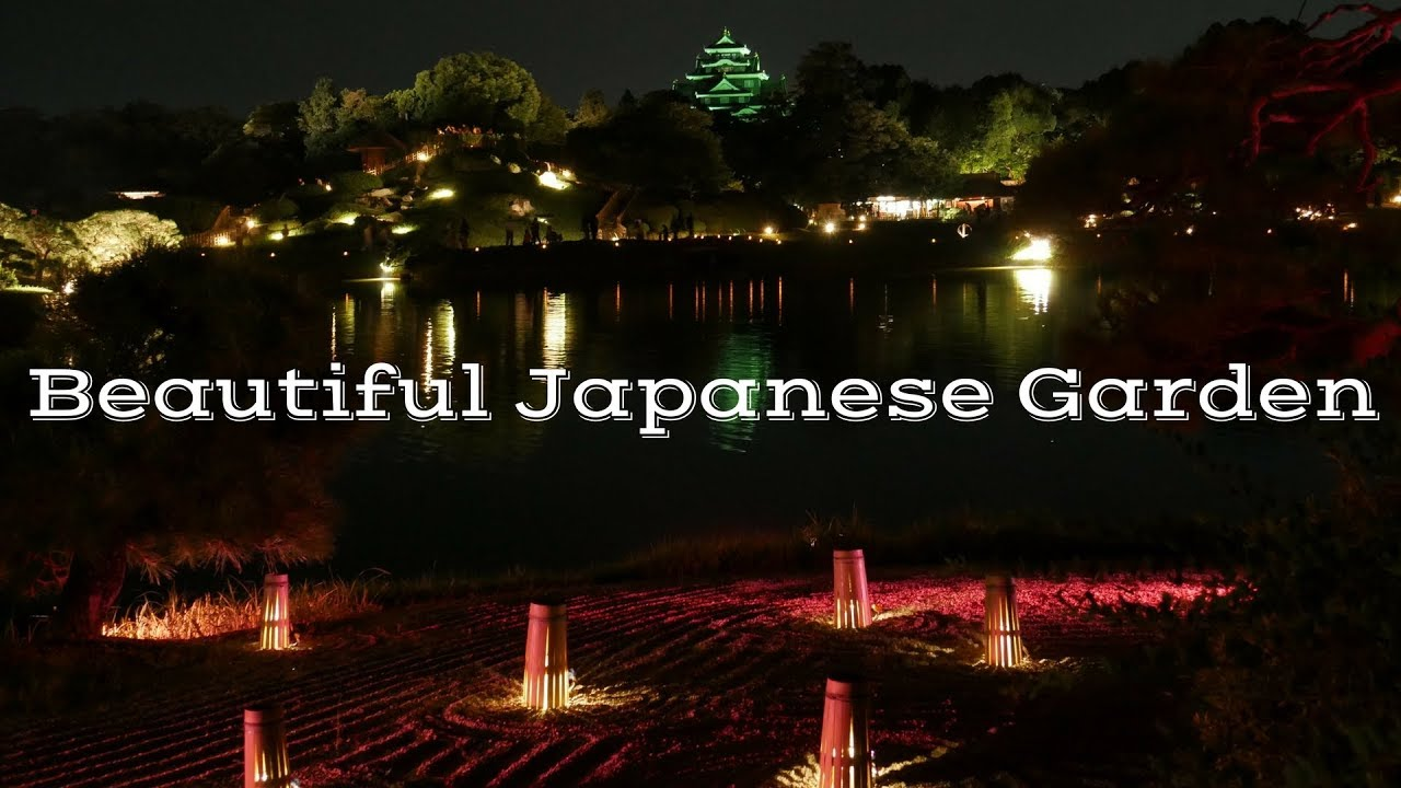 Japanese Garden AT NIGHT Korakuen Garden YouTube