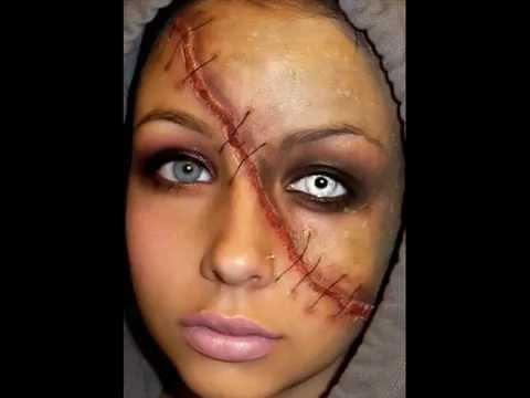 Halloween Series 2011: Split Face Makeup Tutorial - YouTube