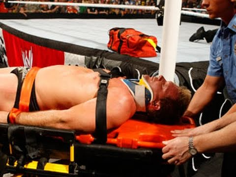 WWE.com Exclusive: Medical technicians tend to Chris Jericho