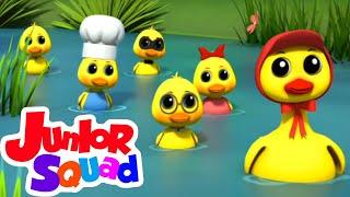 Download Mp3 Lima bebek kecil Bayi sajak Lagu anak anak Junior Squad Indonesia Kartun untuk anak
