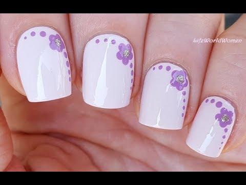 Toothpick Nail Art 22 Lavender