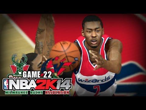 NBA 2K14 Milwaukee Bucks Association | Game 22 - at Washington Wizards