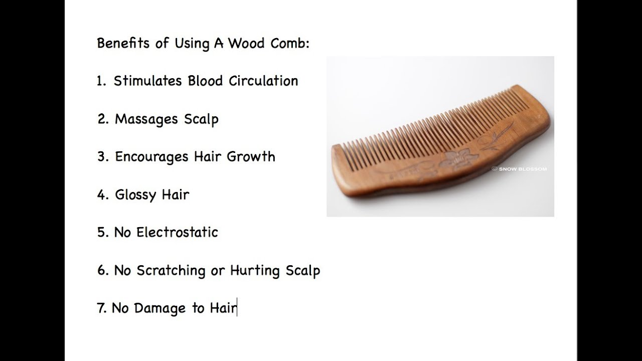 Wood Combs For Healthy Hair Youtube
