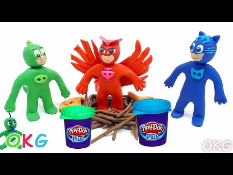 Funny Making PJ Masks Episodes Animation Play Doh Disney Superhero Stopmotion Videos