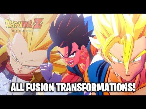 Dragon Ball Z Kakarot - All Fusion Transformations (DBZ Kakarot All Fusion Transformations)