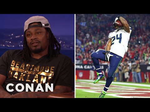 Marshawn Lynch Is Only Here So He Won't Get Fined  - CONAN on TBS