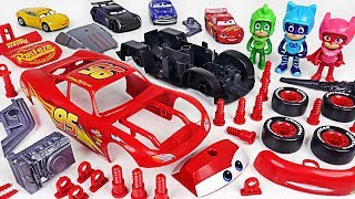 PJ Masks! Fix the broken Disney Cars 3 Lightning McQueen with Model Assembly Kit! - DuDuPopTOY