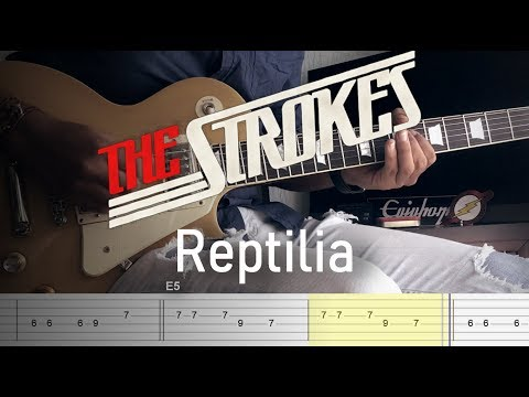 The Strokes - Reptilia // Guitar Cover With Tabs tutorial + Backing Track