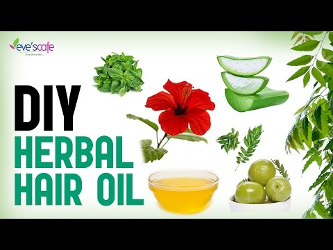 Herbal Hair Oil Preparation For Hair Growth and Stop Hair Loss - DIY