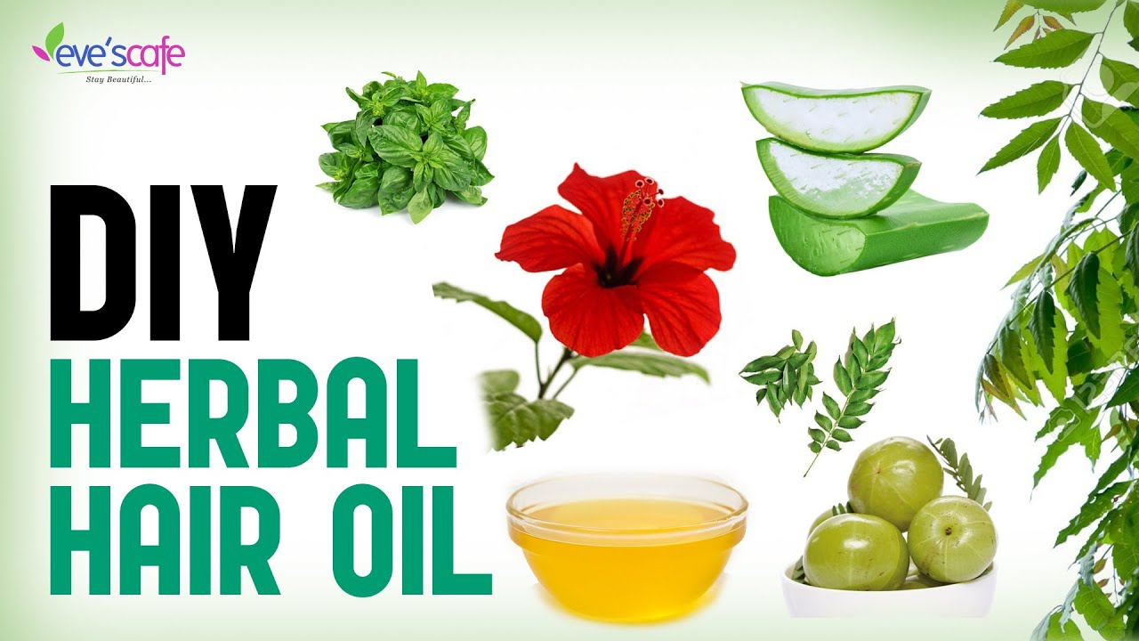 Herbal Hair Oil Preparation Fast Hair Growth And Stop Hair Loss