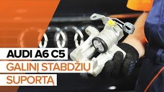 Kaip pakeisti priekinį galinį stabdžių suportą AUDI A6 C5 [PAMOKA]
