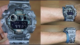 CASIO G-SHOCK CAMOUFLAGE GD-120CM-8 - UNBOXING