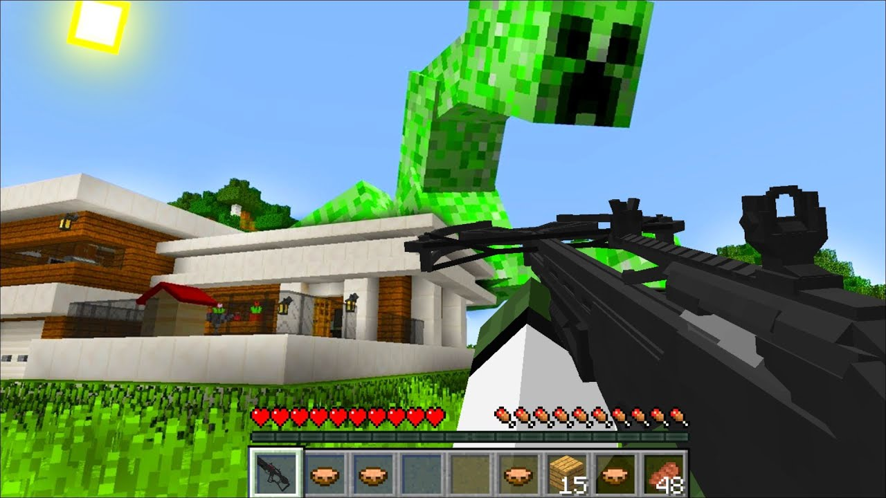 MUTANT CREEPER ARMY APPEARED AT ZOMBIE MARKS HOUSE !! Minecraft !!