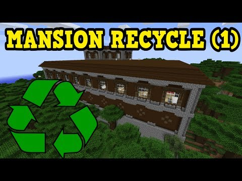 Minecraft Xbox - RECYCLING A WOODLAND MANSION