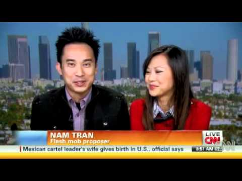 Trang and Nam flash mob proposal on CNN News Blog