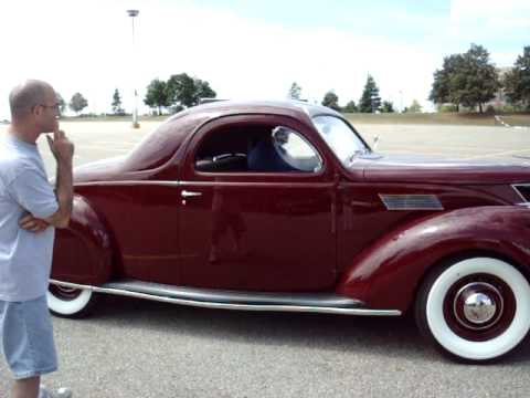 Test driving a 1937 lincoln zephyr coupe v12 youtube for 1936 lincoln zephyr three window coupe