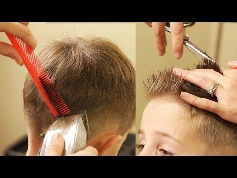 HOW TO CUT BOY'S HAIR // Taper Fade Haircut with No attachments