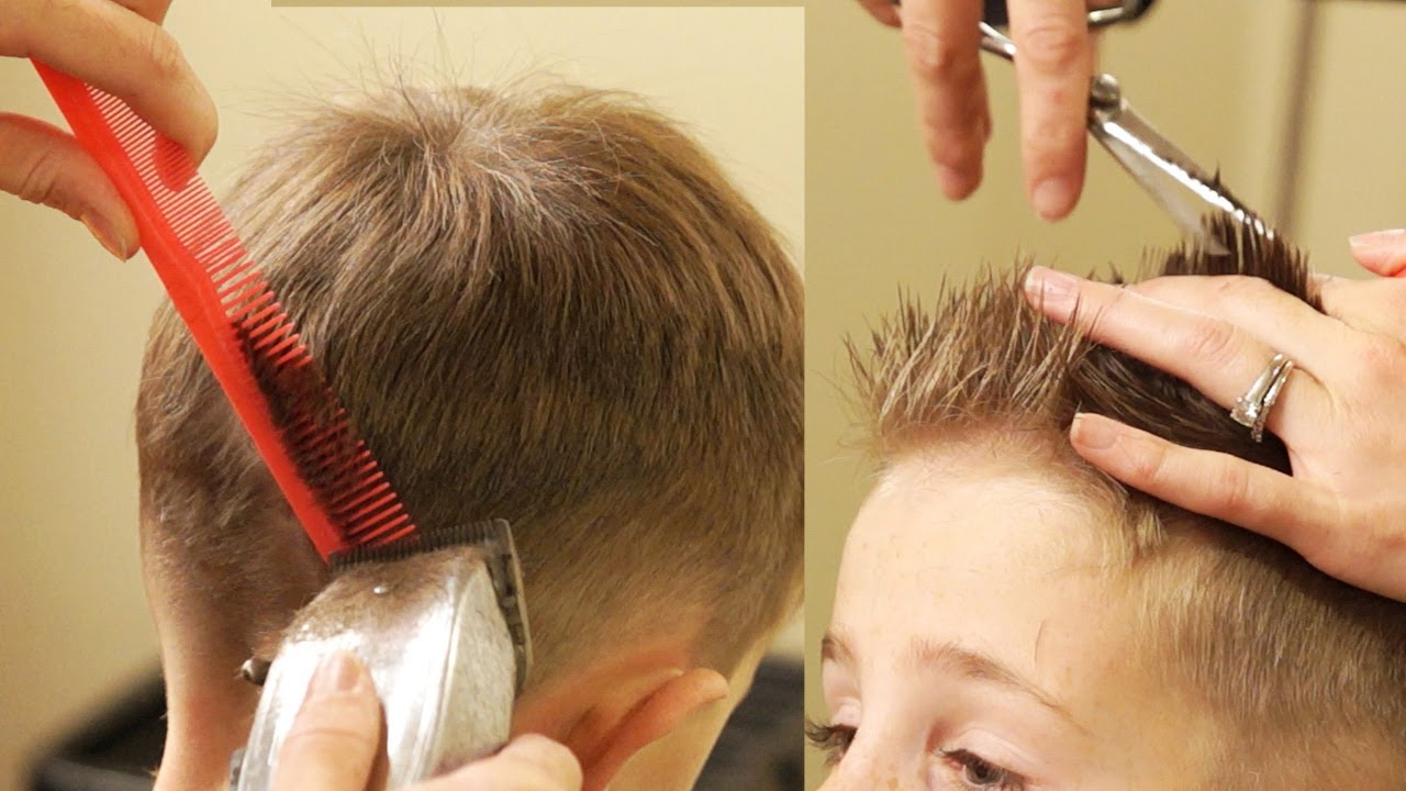 How To Cut Boys Hair Taper Fade Haircut With No Attachments