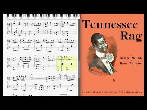Tennessee Rag by McDade & Watterson (1908, Ragtime piano)